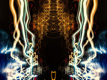 Lightpainting Abstract Symmetry UFA Prints #5 von John Williams