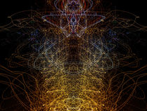 Lightpainting Abstract Symmetry UFA Prints #9 by John Williams