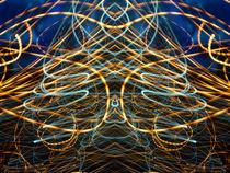Lightpainting Abstract Symmetry UFA Prints #13 by John Williams
