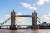 London Tower Bridge with blue sky by wsfflake