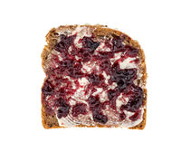 Bread with jam isolated top view by wsfflake
