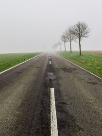 Road in fog leads to nothing by wsfflake