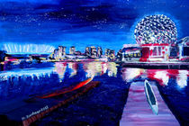 Vancouver skyline at starry night by M.  Bleichner