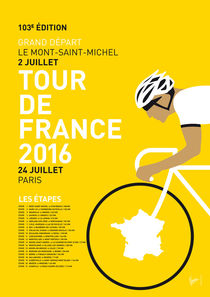 MY TOUR DE FRANCE MINIMAL POSTER 2016 by chungkong