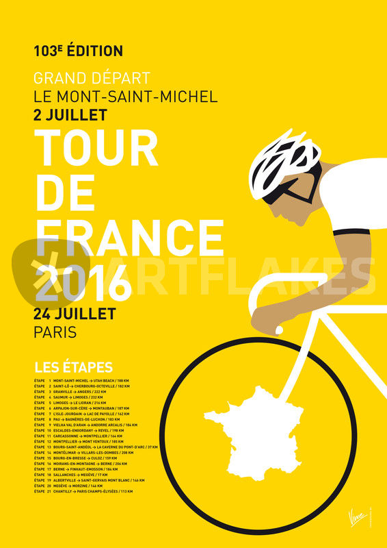 My tour de france minimal poster 2016 graphic for Minimal art 2016