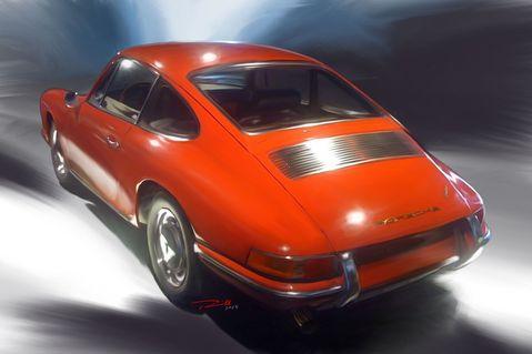 Porsche-911-1966-red