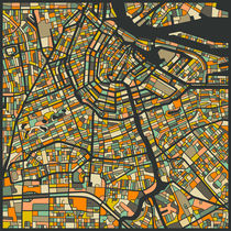 AMSTERDAM MAP von Jazzberry  Blue