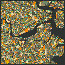 BOSTON MAP von Jazzberry  Blue