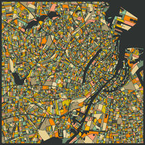 COPENHAGEN MAP von Jazzberry  Blue