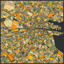 DUBLIN MAP von Jazzberry  Blue