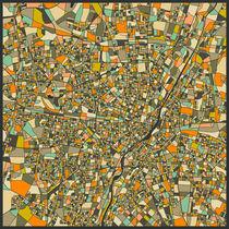 MUNICH MAP von Jazzberry  Blue