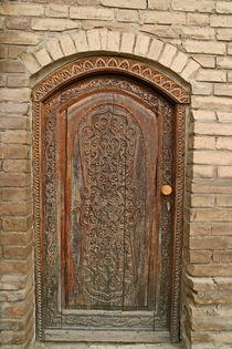 Holz Tür, mit Asiatische Ornament by Wladimir Zarew