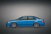 'Audi A4 Quattro B5 Type 8d Sedan Nogaro Blue' von monkeycrisisonmars