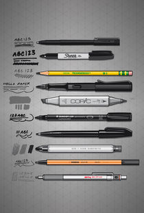 Pen Collection For Sketching And Drawing by monkeycrisisonmars