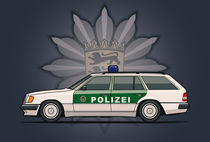 Mercedes Benz W124 300TE Wagon German Police Car von monkeycrisisonmars