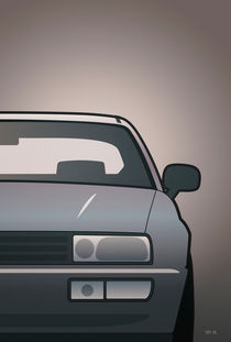 Modern Euro Icons Series Vw Corrado Vr6 (Split) by monkeycrisisonmars