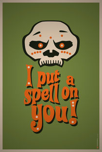 I Put a Spell On You Voodoo Retro Poster von monkeycrisisonmars