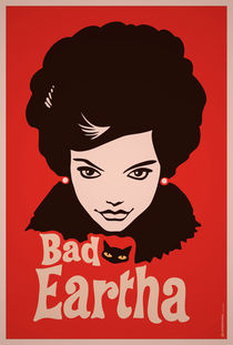 Eartha Kitt - That Bad Eartha Retro Poster von monkeycrisisonmars