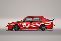 Alfa Romeo 75 Tipo 161 Works Corse Competizione Rosso by monkeycrisisonmars