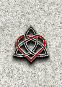 Celtic Knotwork Valentine Heart Bone Texture von Brian Carson