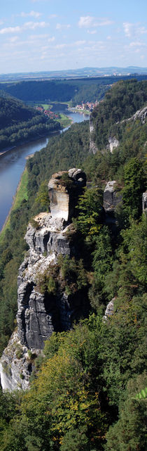 Panorama of the Elbe sandstone mountains by Peter-André Sobota