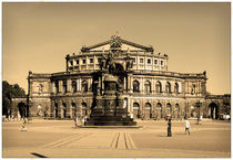 Dresden Semperopera at Theater Square by Peter-André Sobota