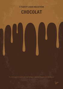 No567 My Chocolat minimal movie poster by chungkong