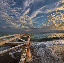 pier and sea sunset - IV by Glory Denisov