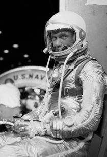 John Glenn Wearing A Space Suit by warishellstore