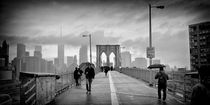 Brooklyn Bridge New York / Manhattan Rainy Day by Thomas Schaefer