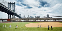 New York Baseball Field near Manhattan Bridge by Thomas Schaefer