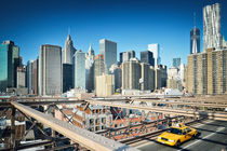 New York Skyline / View from Brooklyn Bridge by Thomas Schaefer