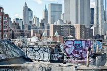 New York City / Manhattan Skyline and Graffiti by Thomas Schaefer
