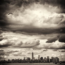 Manhattan New York underneath dramatic Sky by Thomas Schaefer
