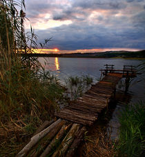 bridge on the lake - I by Glory Denisov