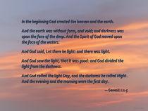 Genesis 1 1-5 In the Beginning von Susan Savad