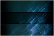 Lightpainting Triptych Horizontal Print Photograph 6 by John Williams