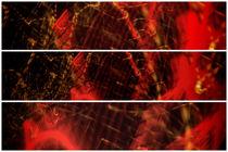 Light painting Triptych Horizontal Print Photograph 7 by John Williams