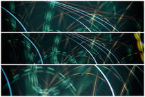 Lightpainting Triptych Horizontal Print Photograph 8 von John Williams