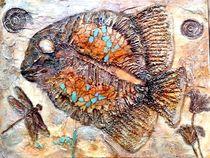 Fossilien I, 2015, Mischtechnik auf Leinwand, 80 x 60  by Eva Vogt