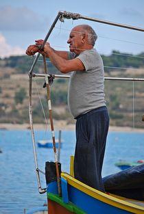 fisherman working on his boat... by loewenherz-artwork