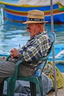 old man thinking about his life... by loewenherz-artwork