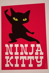 Illu-ninja-kitty-poster