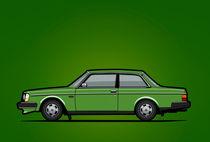 Illu-volvo-242-coupe-green-poster