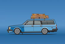Volvo 245 Brick Wagon 200 Series Blue Shopping Wagon von monkeycrisisonmars
