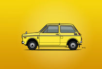 Honda N360 Yellow Kei Car (Poster) by monkeycrisisonmars