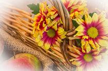 Flowers in a Basket von Brian  Fry