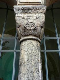 Säule der Domvorhalle zu Goslar von Sabine Radtke