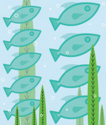 Schooling Fish by Jon Briggs | dzynwrld