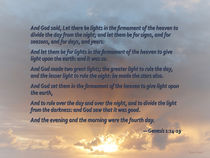 Genesis 1:14-19 ... Let there be lights in the firmament of the heaven by Susan Savad